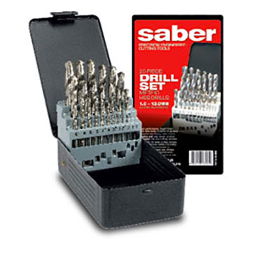 Saber HSS Bright Finish Metric Drill Set