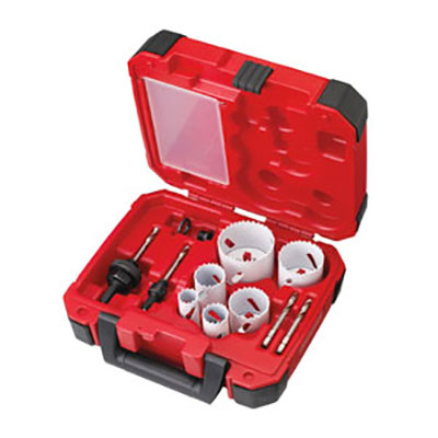 Milwaukee 10 Piece Holesaw Kit