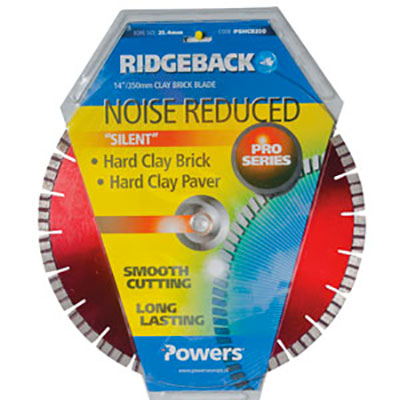 Powers Ridgeback Noise Reduced Hard Clay Blade